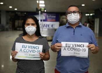 Mais quatro recuperados da COVID-19 tratados em Belém e Vitória retornam a Manaus
