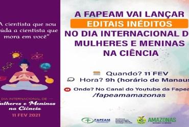 Fapeam vai lançar editais inéditos no Dia Internacional de Mulheres e Meninas na Ciência