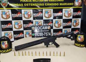 Polícia Militar detém homem em posse de fuzil na zona leste de Manaus