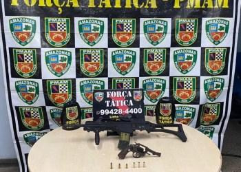 Força Tática detém nove pessoas e apreende 5 quilos de drogas, mais armas de fogo e munições, em Manaus