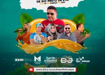 Live marca o aniversário de 39 anos de Rio Preto da Eva