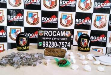Rocam detém três suspeitos por tráfico de drogas na zona oeste de Manaus