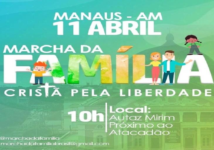 Marcha da família cristã pela liberdade será realizada neste domingo (11)