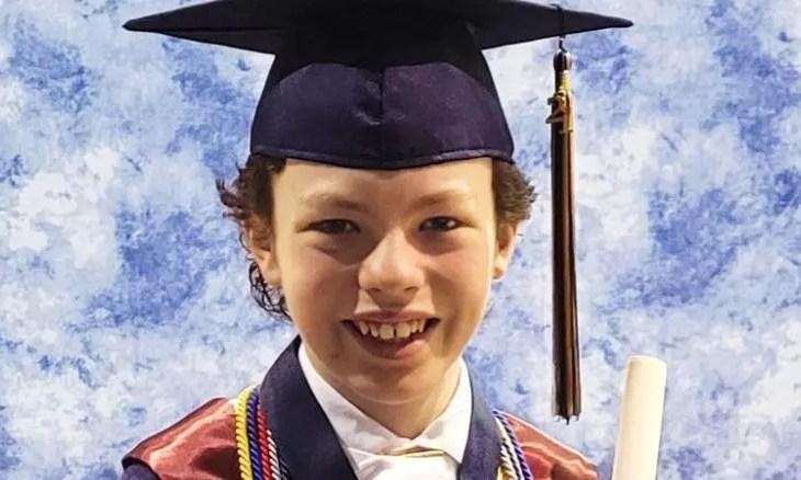 Estudante de 12 anos se formará no ensino médio e na faculdade na mesma semana