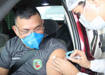 Campanha de vacinação contra Covid-19 alcança 97% da meta na Segurança Pública