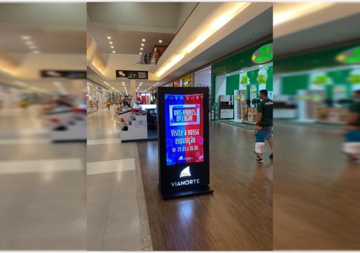 Manaus ViaNorte é o primeiro shopping da cidade a receber totem digital de mídia