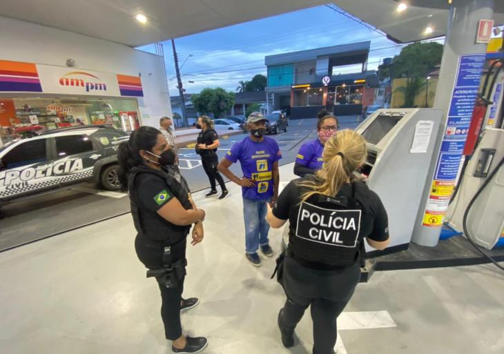 PC-AM deflagra ação ostensiva e de conscientização sobre venda irregular de combustíveis em Manaus