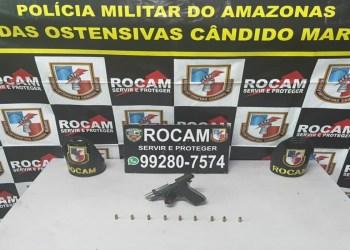 Na zona sul, Rocam detém um homem com arma de fogo e munições