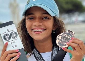 Rayssa Leal, de 13 anos, fatura bronze no Mundial de Street