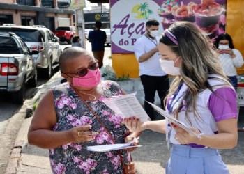 Sejusc encerra campanha Junho Violeta com ação de conscientização no Cipdi