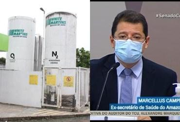 Marcellus Campêlo diz que White Martins alertou sobre falta de oxigênio em 7 de janeiro