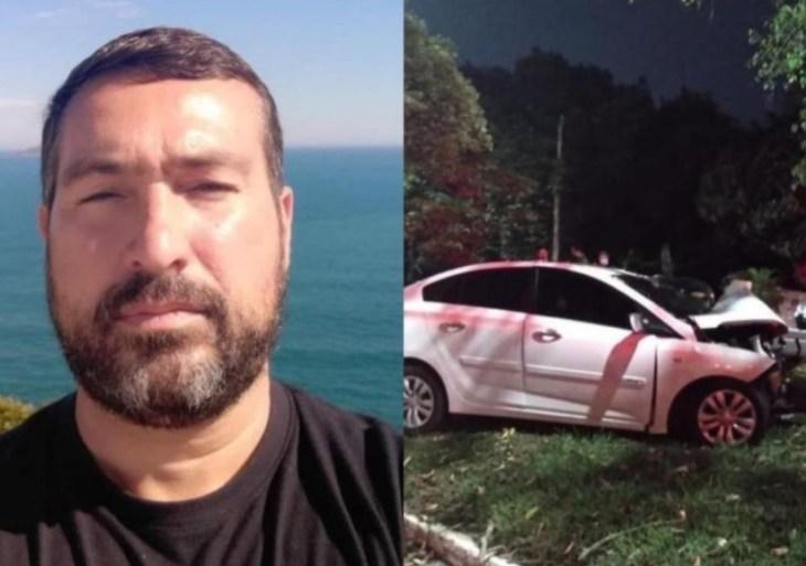 Investigador morre ao colidir carro em árvore na Avenida do Turismo