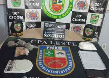 Casal é preso pela Polícia Militar por tráfico de drogas, no bairro João Paulo II
