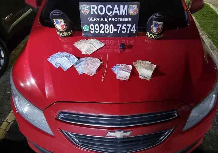 Em ações na capital, Rocam detém três homens por posse de arma de fogo, drogas e bens furtados