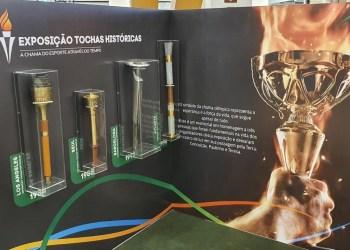 Museu Internacional do Esporte abre, no Amazonas Shopping, exposição de tochas históricas das Olimpíadas