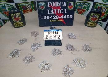 Força Tática detém homem em flagrante por tráfico de drogas na zona leste de Manaus