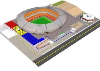 Primeiro evento-teste será realizado em setembro no podium da arena da Amazônia