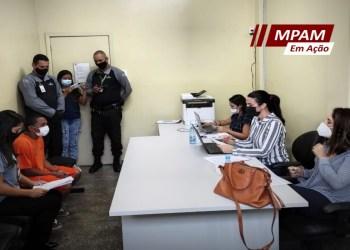 MPAM participa de mutirão de audiências nas unidades Unidades Prisionais do Puraquequara e no CDMP 1