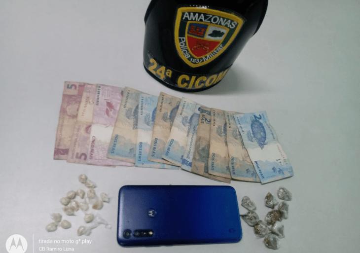 Polícia Militar detém homem por tráfico de drogas na zona sul