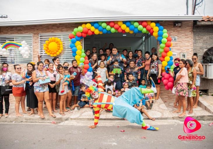 Portal do Generoso comemora o dia das crianças com atrações infantis e doações de brinquedos
