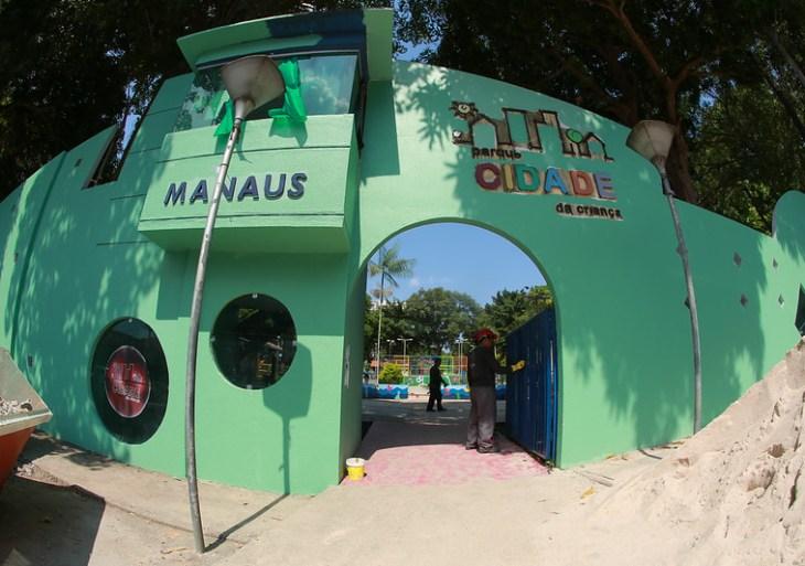Prefeitura realiza evento-teste de reinauguração do parque Cidade da Criança