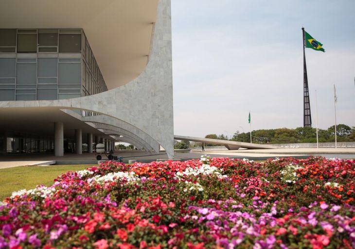 Fachada lateral do Palácio do Planalto