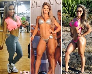 Aline Barreto, o antes e depois
