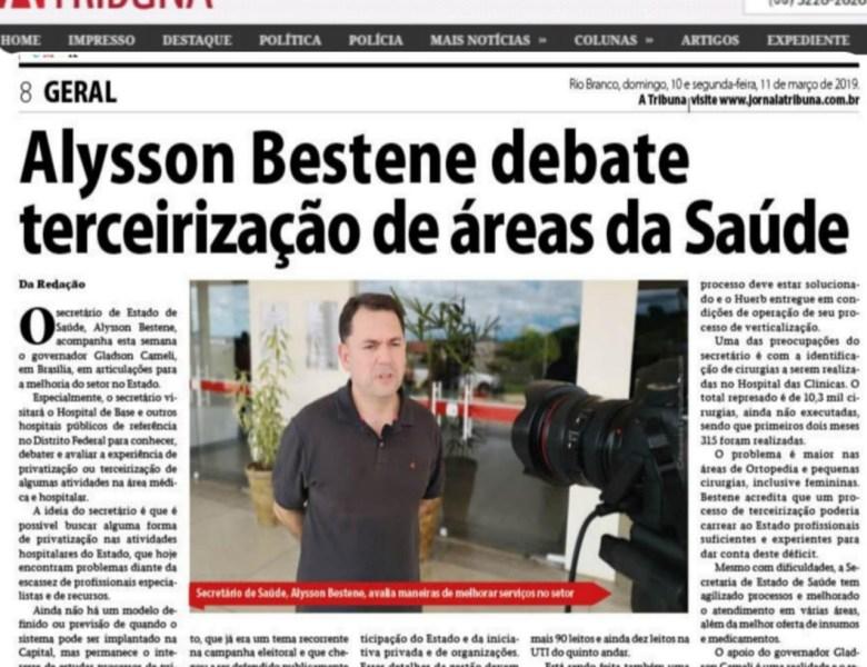 Secretário confirma: a Saúde do Acre será terceirizada