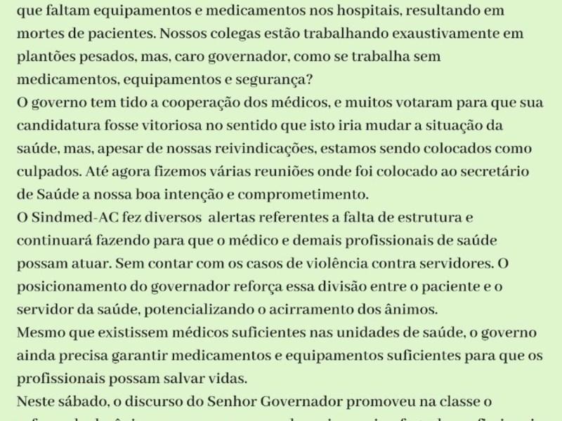 Sindicato dos Médicos repudia ofensas de Cameli à categoria; o gestor demonstra ignorância sobre a administração da saúde