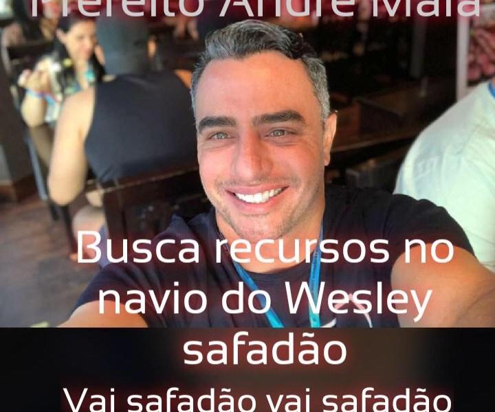 Após passear em cruzeiro e assistir Wesley Safadão, prefeito André Maia retorna falando em reeleição