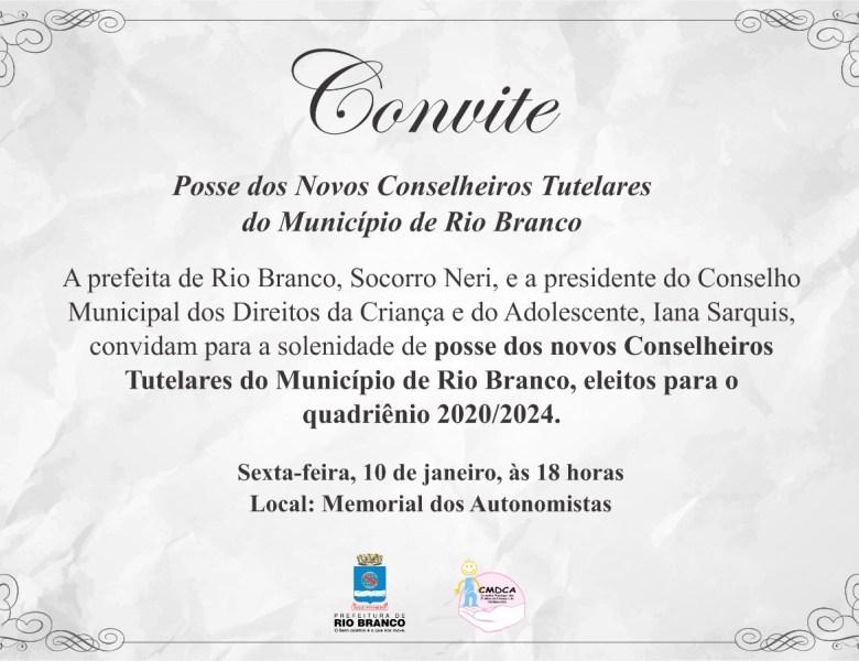 Socorro Neri empossa novos Conselheiros Tutelares de Rio Branco nesta sexta-feira
