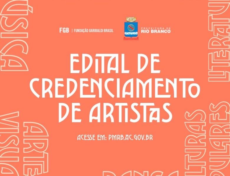 Prefeitura de Rio Branco abre edital de Credenciamento de Artistas 2020