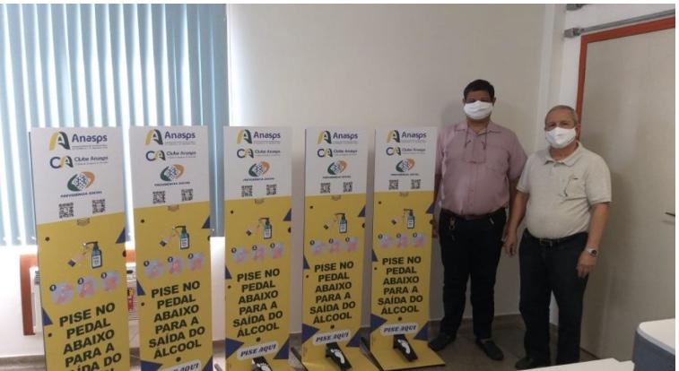 Anasps doa totens de álcool em gel para servidores do INSS no Acre
