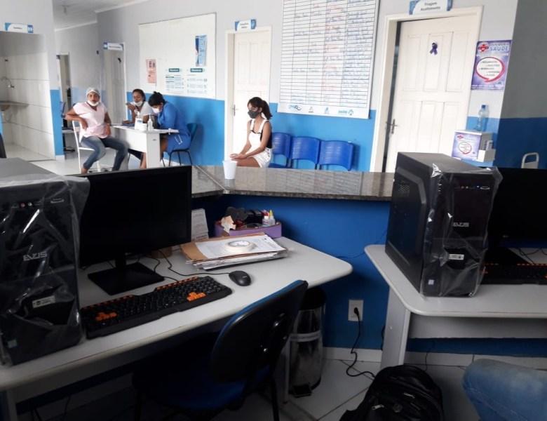 FCCV instala computadores na UBS Jesuino Lins para viabilizar prontuário eletrônico