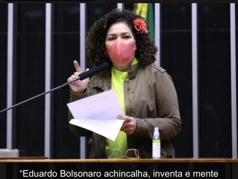 """""""Eduardo Bolsonaro achincalha, inventa e mente sobre a China"""", diz Perpétua Almeida"""