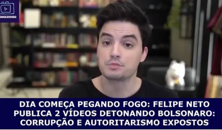 VÍDEO: Felipe Neto publica vídeo Bolso Família e fala sobre o Movimento Cala Boca Já Morreu