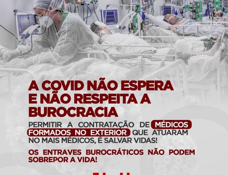 Edvaldo Magalhães apresenta projeto que permite a contratação de médicos brasileiros formados no exterior
