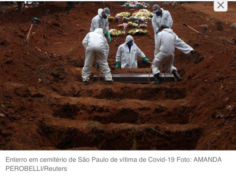 COVID-19 CAUSOU MAIS MORTES DO QUE A AIDS EM 40 ANOS NO BRASIL