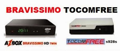 NOVA ATT  AZBOX BRAVISSIMO TWIN EM TOCOMFREE  V3.30  - 30.06.2015