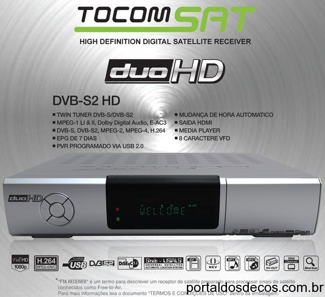 Resultado de imagem para TOCOMSAT DUO HD , DUO HD +