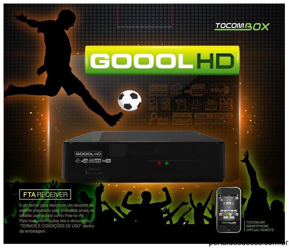 ATUALIZAÇÃO LINHA TOCOMSAT / TOCOMBOX TOCOMBOX-GOOOL-HD-V3.006