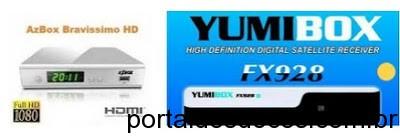 ATUALIZAÇÃO AZBOX Bravíssimo em Yumibox FX928 20-03-2016
