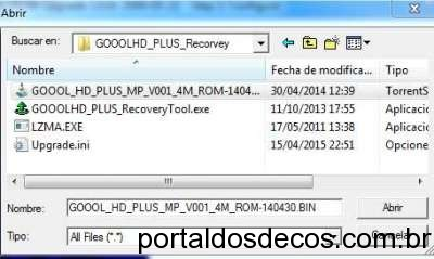 Recovery TOCOMSAT Goool HD + (PLUS) Passo a Passo 04