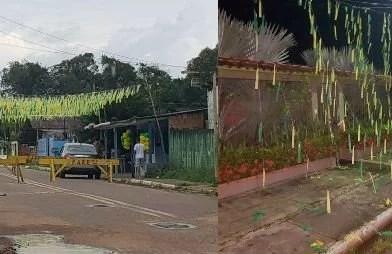 Caminhão baú arranca ornamentação da Rua Piquiá e causa revolta nos moradores, em Presidente Figueiredo