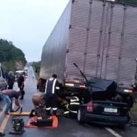 'Chovia muito', diz vítima de grave acidente que deixou dois mortos na BR-174 no AM