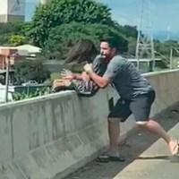 Homem evita suicídio de menina de 13 anos; assista ao vídeo