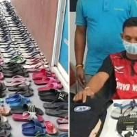 Homem é preso após furtar 126 pares de chinelos por fetiche: 'Fazia sexo com eles'