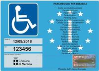 Immagine del contrassegno disabili