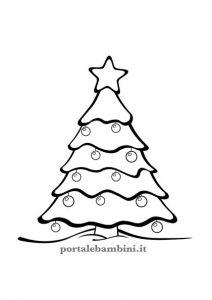 Oltre 470 disegni di natale da stampare e colorare per bambini: Disegni E Sagome Di Alberi Di Natale Portalebambini It