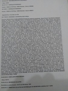 Íntegra da decisão proferida pela juíza Dra Raquel Araújo